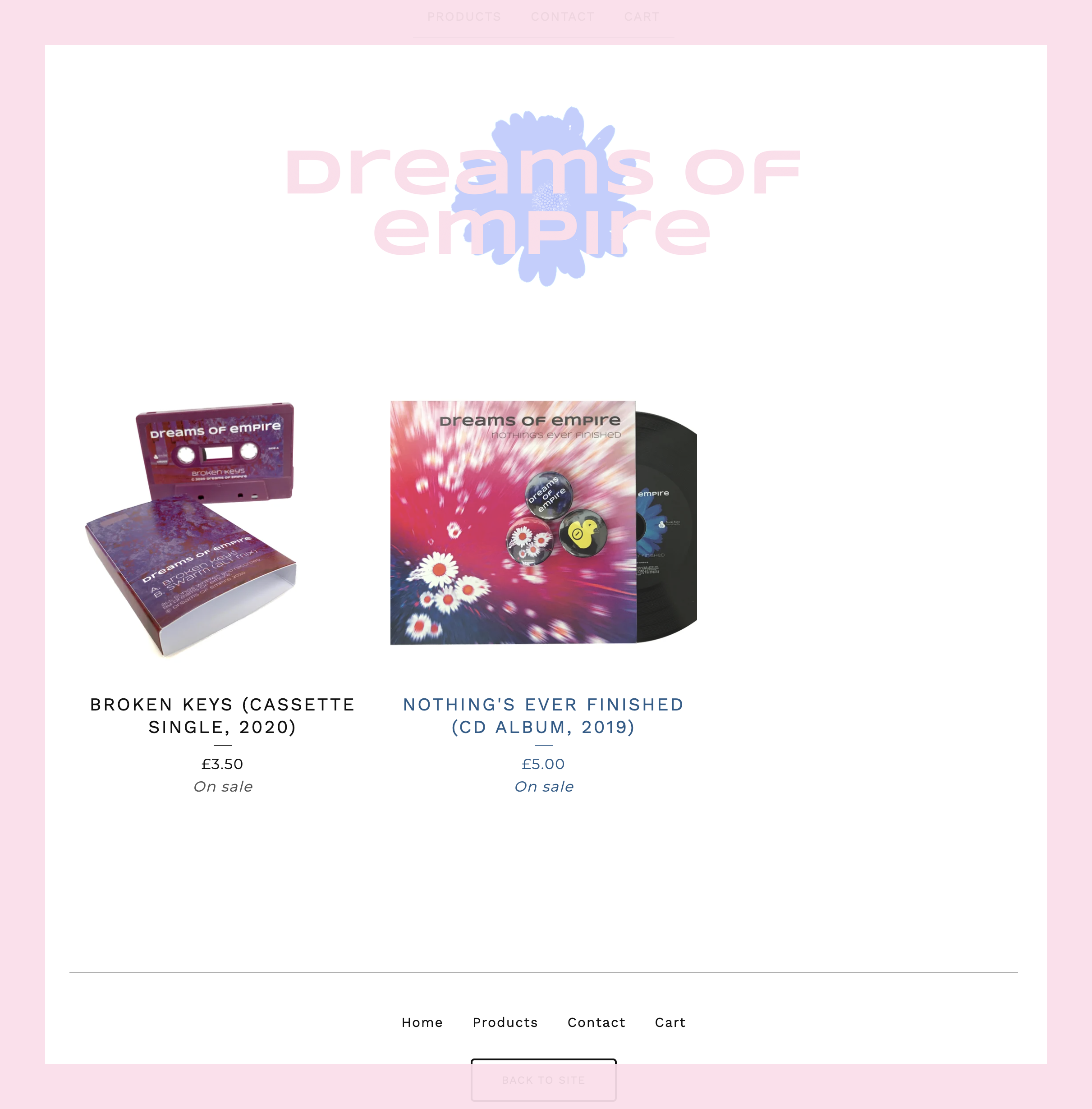 screengrab of dreams of empire shop